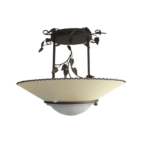 Lámpara de techo rústica