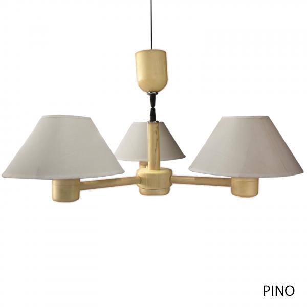 Lámpara de madera retro